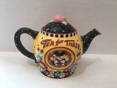 Mary Engelbreit Disney Michey & Minnie Tea for Three Teapot