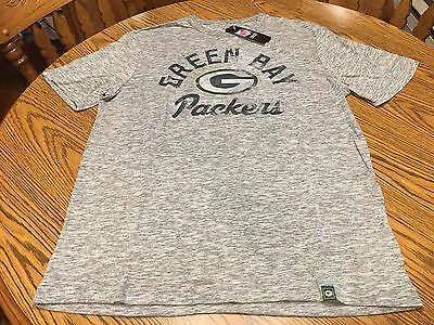Green Bay Packers NFL Men's Gray Distressed Logo Short Sleeve T-Shirt Large NWT
