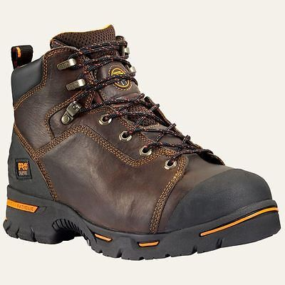 """Timberland Pro Boots 52562 Mens Endurance 6"""" Steel Toe Brown Work Boot"""