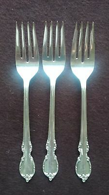 "1959 Reflection Pattern 1847 Rogers Bros Silver Plate (3)  6 1/2"" Salad Forks"