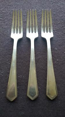 "1917 General Putman Pattern Rogers & Bros Silver Plate (3) 7"" Dinner Forks"