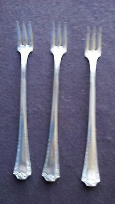 """sheffield A-1 Plate "" Silver Plate Flatware (3) Three 6"" Cocktail Forks"