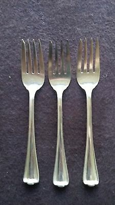 "1912 Cromwell Pattern 1847 Rogers Bros Silver Plate (3) 6"" Pastries Forks"