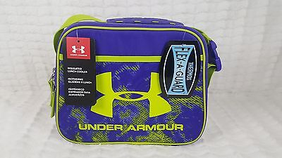 Nwt Under Armour Girl  Boy Purple Insulated Cooler School Lunch Box Lunchbox 858498e68d803