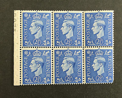 ASstamps 1950 Great Britain King George VI 2 1/2p Booklet of 6 MNH SC#284