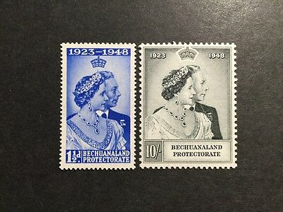 ASstamps 1948 Bechuanaland King George VI Silver Wedding Set MNH SC#147-148
