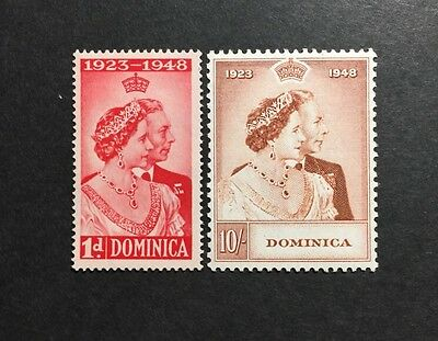 ASstamps 1948 Dominica King George VI Silver Wedding Set MNH SC#14-115
