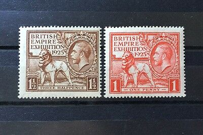 ASstamps Great Britain 1925 King George V Exhibition Issue Set MNH SC#203-204