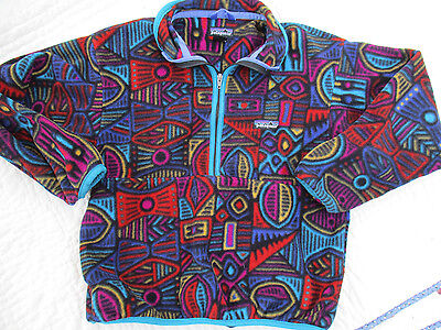 VTG 90s Patagonia Aztec Fleece Snap T Jacket Kids 12