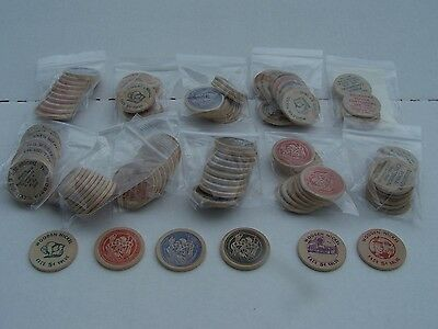 Lot of 114 1966 Dallastown Centennial Wooden Coins