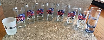 EUC Planet Hollywood Shot Glass Set Of 9--Multiple Locations!