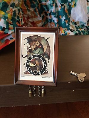 Vintage Hummel Pendulum Wind-up Clock with Key from Germany