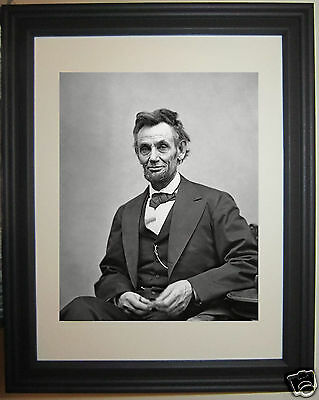Abraham Lincoln Official Portrait 1865 American Civil War Framed & Matted Photo