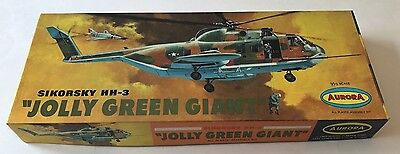 "Vintage Aurora 1969 Sikorsky HH-3 ""JOLLY GREEN GIANT"" Helicopter Model Kit MIB"