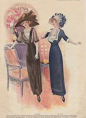 Women's Fashion - Vintage Graphic Advertising Art - Delineator - October 1911
