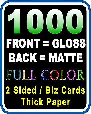 LOOK 1,000 BUSINESS CARDS - Full Color | GLOSS & MATTE Custom Must See!!!