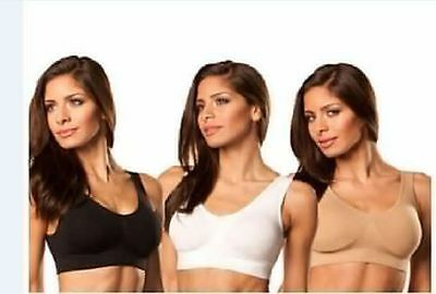 8a7d5627a1 BRA WITH REMOVABLE Pads COMFY MANY COLORS ALL SIZE SET OF 3 Bras ...