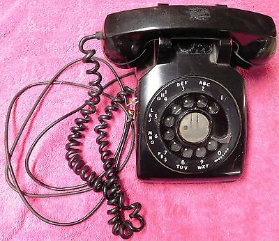 1950s WESTERN ELECTRIC Black 500 1959 Metal Dial Rotary Telephone