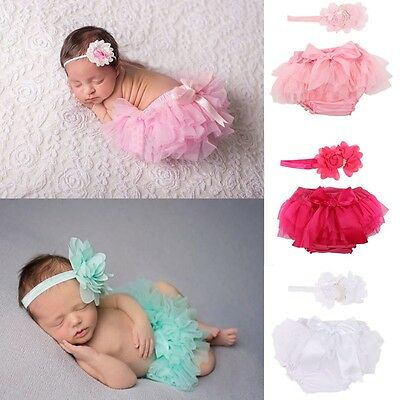 AU Kid Toddler Baby Infant Girl Ruffle Bloomer Nappy PP Pants Diaper Cover 2Pcs