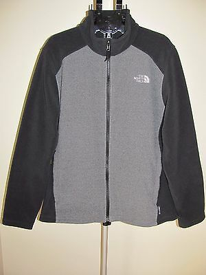 The North Face men's jacket fleece flashdry gray black size Large