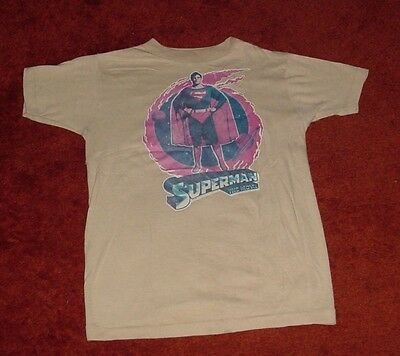 Vintage Original 1978 Superman The Movie T-Shirt Christopher Reeve Free Shipping
