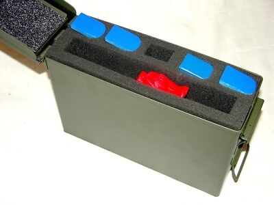 30cal Precut Foam Kit fits 30 cal caliber Ammo Can holds 1 Pistols +5 mags