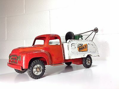 "Excellent Vintage Buddy L Tin Toy Tow Truck ""REPAIR-IT"""