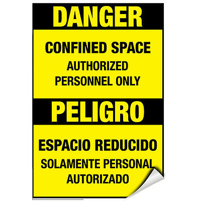 Entry By Authorized Personnel st5 X8627 Decals Sticker Danger High Voltage