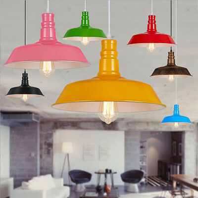 NEW Retro Vintage Metal Cafe Style Ceiling Pendant Light Lamp Shade Lampshade