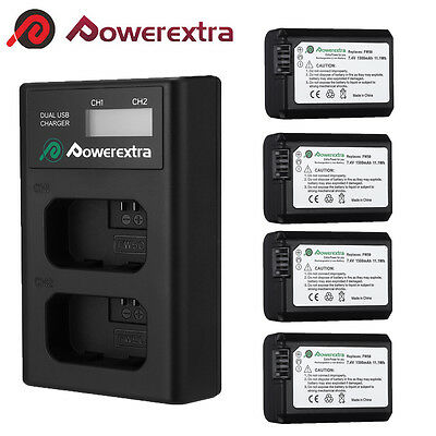 NP-FW50 1500mAh Battery + Charger For Sony Alpha 7R A7r NEX-7 A3000 A6000 A5000
