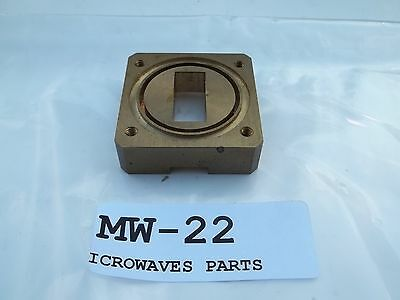 Waveguide brass flange flat and choked, (MW22), NOS
