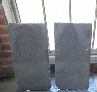"Antique Roofing Slate Pieces - 22"" x 11""  painting--farmhouse tiles"