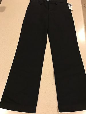 Brand New with Tags Boys Ralph Lauren Polo Black Khaki FLAT FRONT Pants Size 14