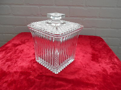 Vintage Rare Clear Glass Ice Bucket