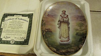 Bradford Exchange - Our Lady Of Silence - Lady La Salette + COA Collector Plate