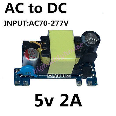 DC 5V 2A 10W Low Ripple Switching Power Supply Board Converter Module AC 85-265V