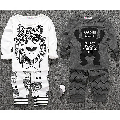 Baby Newborn Boy Short Sleeve Top Blouse T-Shirt Pants Trousers Outfits Set