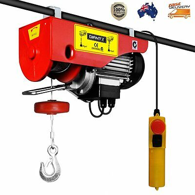 400/800kg 1300W Electric Hoist Winch Single-Phase Capacitance Motor Garage Store