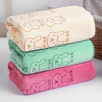 3Pcs/lot Soft Baby Infant Rabbit Animals Bath Towel Washcloth Bathing Cloth