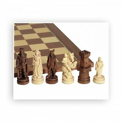 Chess figures - nice carved - Maple - Kings height 100mm