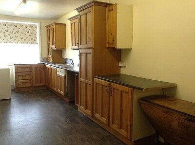 Second hand / used / pre-owned pine farmhouse style kitchen units and dishwasher