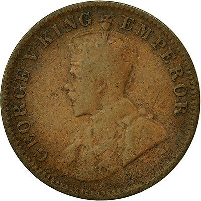 [#466981] INDIA-BRITISH, George V, 1/4 Anna, 1913, VG(8-10), Bronze, KM:512