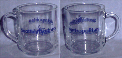 Seattle Mariners Trident Logo Glass Coffee Cup