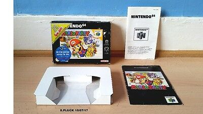 Mario Party N64 Box/Insert & Manual Only No Game