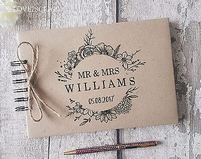 Personalised Vintage - Wedding - Engagement - Guest Book - Memory Album