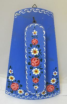 2PC English Bargewear Coat  Brush w Holder Stunning Floral Painting Gypsy T9