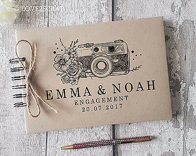 Personalised Vintage Camera  -  Wedding - Engagement Guest Book - Memory Album