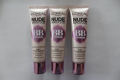 L'Oreal Nude Magique BB Cream Universal Skin Perfector SPF20 - Choose Shade: