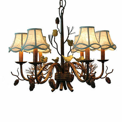 Antique industrial lighting pendant chandelier foyer Bird Rustic ceiling fixture