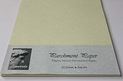 A5 OR A4 90gsm QUALITY AGED VELLUM PARCHMENT PAPER. LEONARDO BRAND ARTS & CRAFTS
